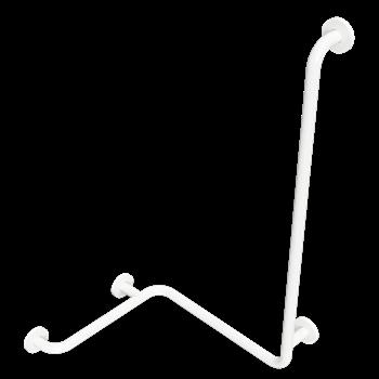 HELP: Madlo do sprchy s hladkou svislou opěrkou, pravé, bílé s krytkou