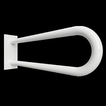 HELP: Podpěrné madlo ve tvaru U 600 mm, bílé, s krytkou