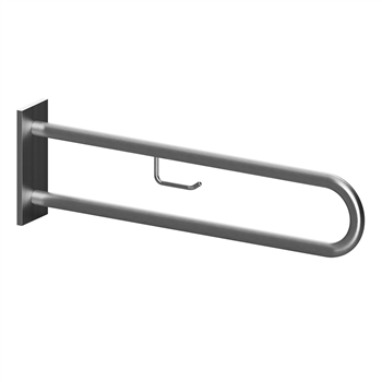 HELP: Podpěrné madlo ve tvaru U 813 mm, nerez brus, s krytkou a držákem TP