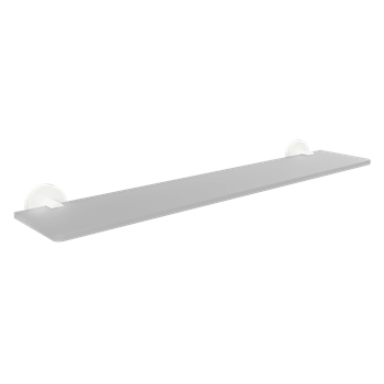 WHITE: Polička skleněná 600 mm