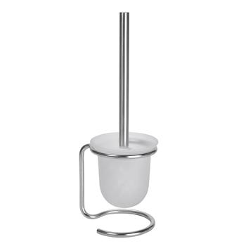 NEO: WC štětka miska sklo, na postavení, bílý kartáč