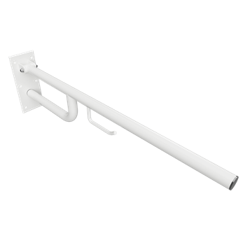 HELP: Sklopný úchyt 850mm, bílý, s držákem TP