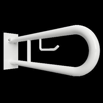 HELP: Sklopný úchyt ve tvaru U 750 mm, bílé, s krytkou a držákem TP