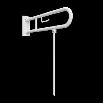 HELP: Sklopný úchyt ve tvaru U 750 mm, bílé, s krytkou, držákem TP a podpěrnou nohou