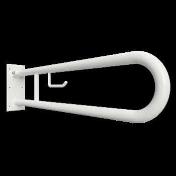 HELP: Sklopný úchyt ve tvaru U 750 mm, bílý, s držákem TP