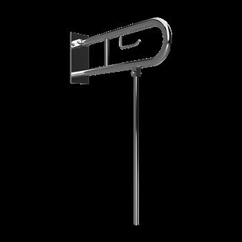 HELP: Sklopný úchyt ve tvaru U 750 mm, nerez lesk, s krytkou, držákem TP a podpěrnou nohou