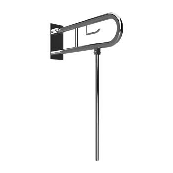 HELP: Sklopný úchyt ve tvaru U 850 mm, brus, s krytkou, držákem TP a nohou