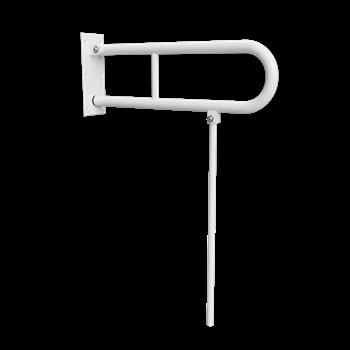 HELP: Sklopný úchyt ve tvaru U s opěrnou nohou 600 mm, bílý