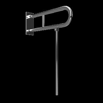 HELP: Sklopný úchyt ve tvaru U s opěrnou nohou 600 mm, nerez brus, s krytkou