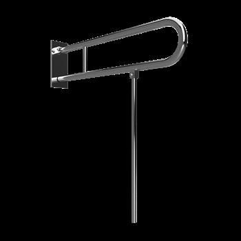 HELP: Sklopný úchyt ve tvaru U s opěrnou nohou 600 mm, nerez, s krytkou