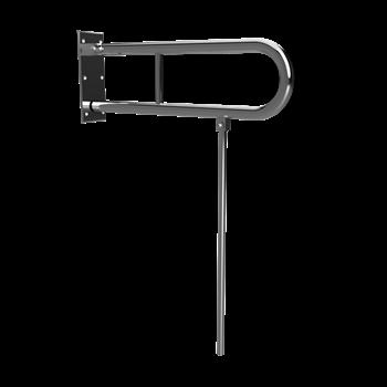 HELP: Sklopný úchyt ve tvaru U s opěrnou nohou 600mm, nerez lesk