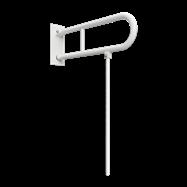HELP: Sklopný úchyt ve tvaru U s opěrnou nohou 750mm, bílý, s krytkou