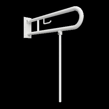 HELP: Sklopný úchyt ve tvaru U s opěrnou nohou 813mm, bílý, s držákem TP