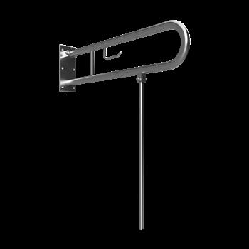 HELP: Sklopný úchyt ve tvaru U s opěrnou nohou 813mm, nerez brus, s držákem TP