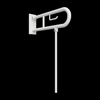 HELP: Sklopný úchyt ve tvaru U s opěrnou nohou 850mm, bílý, s držákem TP