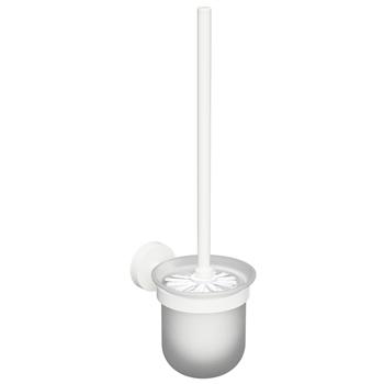 WHITE: WC štětka, miska sklo