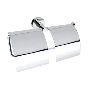 OMEGA: Dvojitý držák toaletního papíru s krytem economy