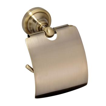 RETRO bronz: Držák toaletního papíru s krytem