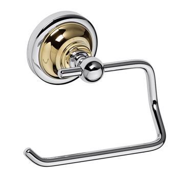 RETRO zlato-chrom: Držák toaletního papíru bez krytu