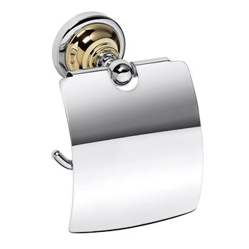 RETRO zlato-chrom: Držák toaletního papíru s krytem