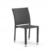 Ratanová zahradní židle, černá