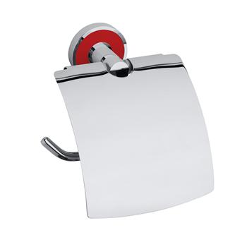TREND-I: Držák toaletního papíru s krytem, červená