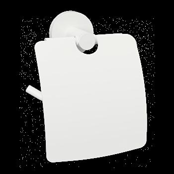WHITE: Držák toaletního papíru s krytem