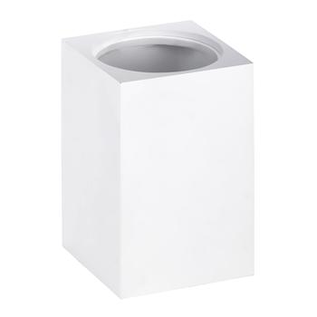 GAMMA: Nádoba pro WC štětku na zeď, hranatá, bílá