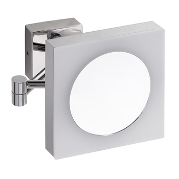 Kosmetické zrcátko hranaté s LED osvětlením, IP44, touch sensor