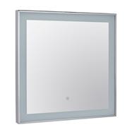 Zrcadlo 600x600x30 zarámované a osvětlené s dotyk.senzorem