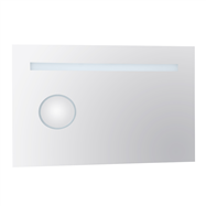 Zrcadlo s ovětlením 600x900x30 a s integrovaným podsvíceným kosm.zrcátkem