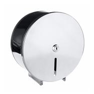 Bubnový zásobník na toaletní papír O 200 mm se zámkem, lesk