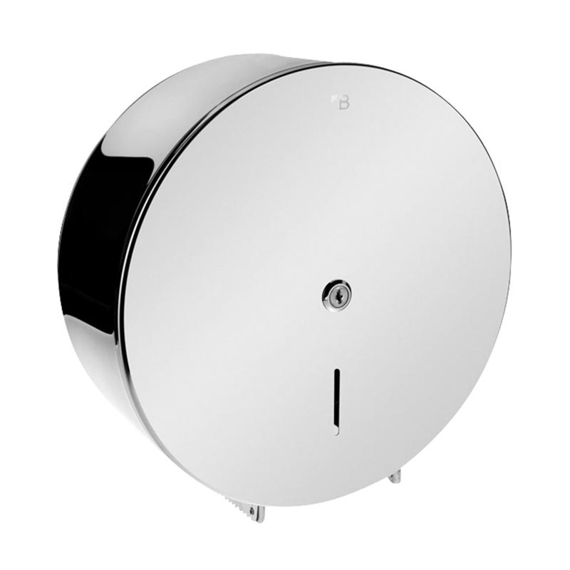 Bubnový zásobník na toaletní papír O 310 mm, se zámkem, lesk