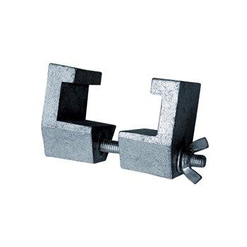 Spojovací element rámů k jevištním plošinám, hliníková slitina
