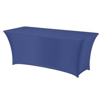 Elastický potah na hranatý cateringový stůl 183 x 76 cm, Modrá