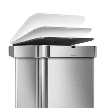 Simplehuman bezdotykový koš s hlasovým a pohybovým sensorem, 58 L, nerez ocel, ST2031