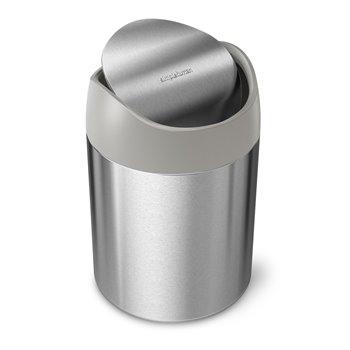 Simplehuman Mini odpadkový koš na stůl, 1,5 l, kartáčovaná nerez ocel, CW2084