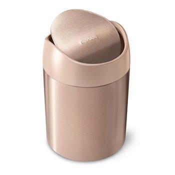Simplehuman Mini odpadkový koš na stůl, 1,5 l, Rose Gold nerez ocel, CW2085