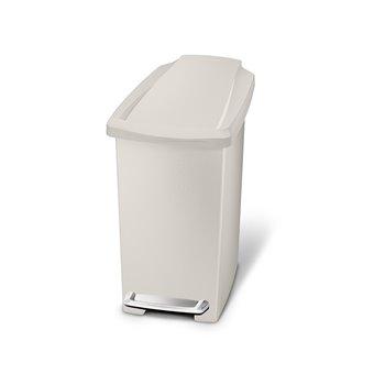 Pedálový odpadkový koš Simplehuman – 10 l, úzký, šedo-béžový plast