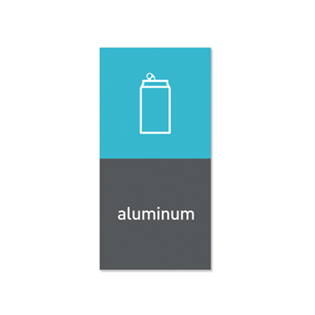 """Simplehuman magnetický štítek na odpadkový koš - hliník """"aluminium"""""""