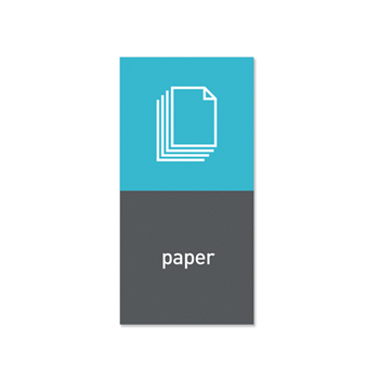 """Simplehuman magnetický štítek na odpadkový koš - papír """"paper"""""""