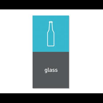 """Simplehuman magnetický štítek na odpadkový koš - sklo """"glass"""""""