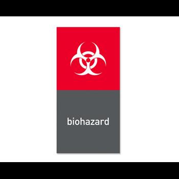 """Simplehuman magnetický štítek na odpadkový koš - nebezpečný odpad """"biohazard"""""""