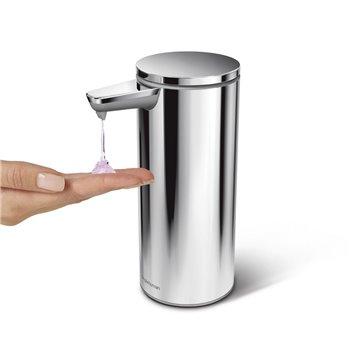 Bezdotykový dávkovač mýdla Simplehuman – 266 ml, leštěná nerez ocel, dobíjecí