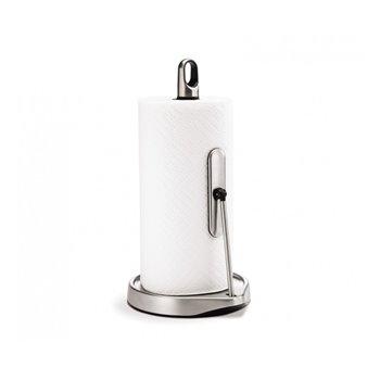 Držák na kuchyňské utěrky s ramenem, Simplehuman – pro role do 23 cm, matná ocel