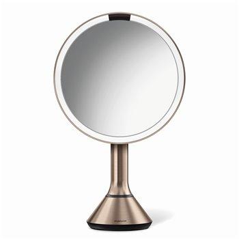 Kosmetické zrcátko Simplehuman Sensor Touch, LED osvětlení, 5x, dobíjecí, rose gold
