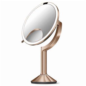 Kosmetické zrcátko Simplehuman Sensor TRIO, LED osvětlení, 1x/5x/10, dobíjecí, rose gold