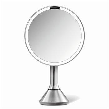 Kosmetické zrcátko Simplehuman Sensor Touch, LED osvětlení, 5x, dobíjecí, matná nerez