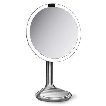 Kosmetické zrcátko Simplehuman Sensor SE, LED osvětlení, 5x zvětšení, síťové, nerez