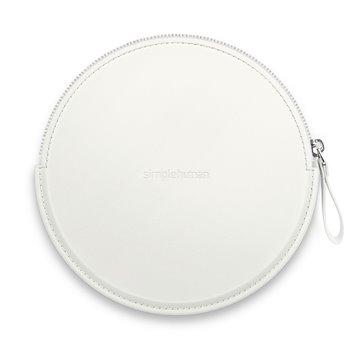 Simplehuman Sensor Compact, bílé pouzdro se zipem pro kosmetická zrcátka, ST9003